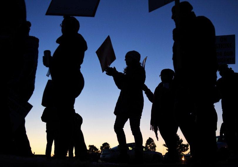 PHOTOS: #DenverTeacherStrike Day 1: Educators picket across #Denver, demand better wages https://t.co/CQCpSz41jn