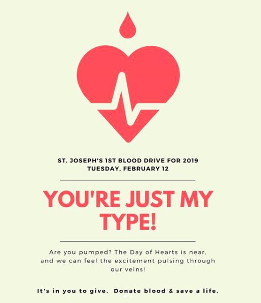 A reminder if you are donating blood tomorrow to eat a good breakfast, wear a short sleeved shirt, and bring GOVERNMENT issued photo ID. You will not be able to donate without this. Teachers can no longer simply identify you. Please arrive for your appointment time promptly.