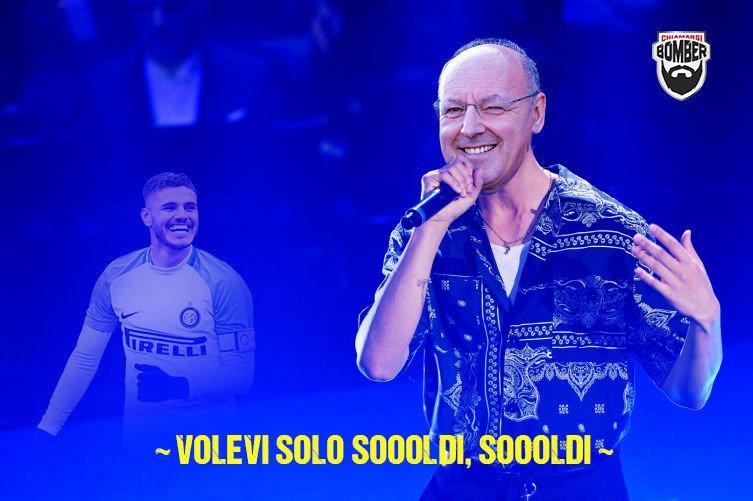 Di Zhang, Ausilio, Spalletti. Canta Beppe Marhood.  #Icardi #Marotta #Mahmood #Inter #Sanremo2019