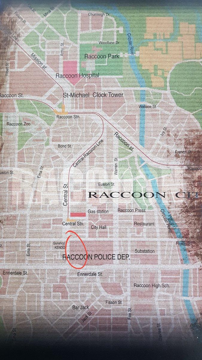 resident evil 3 remake map location