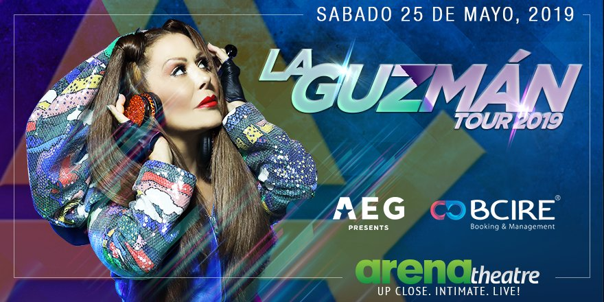 🔥 #ENCONCIERTO: Alejandra Guzman se presenta LIVE en concierto en #ArenaTheatre!! ¡No te pierdas la oportunidad de verla en vivo el sábado 25 de mayo, 2019! La preventa de boletos empieza este jueves 14 de febrero a las 10 a.m. -- #LaGuzmanTour2019 #LiveShow #Houston