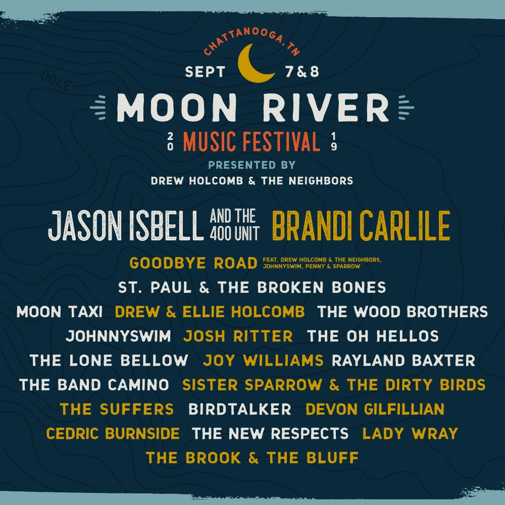 Chattanooga, we'll be at @MoonRiverFest this September! Tickets go on sale this WEDNESDAY 2/13 at 10am EST.  https://on.moonriverfestival.com/trk/hIjb