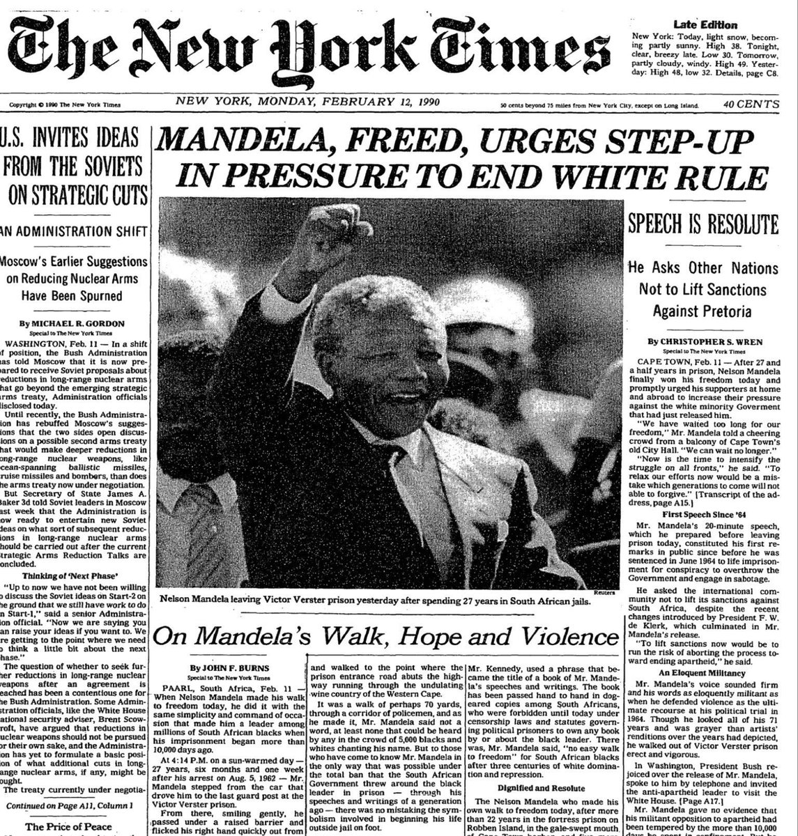 RetroNewsNow's photo on Nelson Mandela