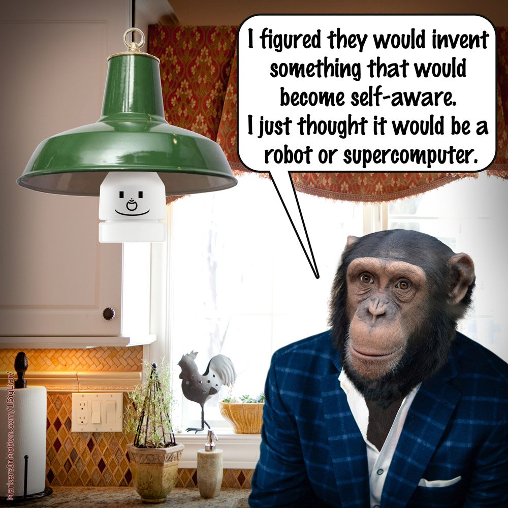 #Mondaythoughts Do robots run away when they hear a can opener? #DSPhx <br>http://pic.twitter.com/XRVz8KUYyD
