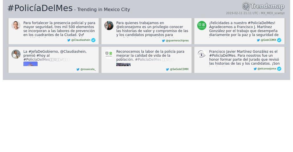 Trendsmap C d Mexico's photo on #PolicíaDelMes
