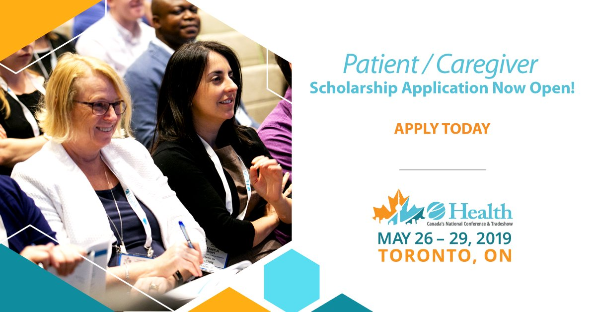 We are proud and excited to announce that #eHealth2019 will be offering four scholarships to qualifying patients or caregivers to enable them to attend the e-Health 2019 conference in Toronto, Canada! Apply today: http://www.e-healthconference.com/sziz  Applications must be submitted by Feb. 22.