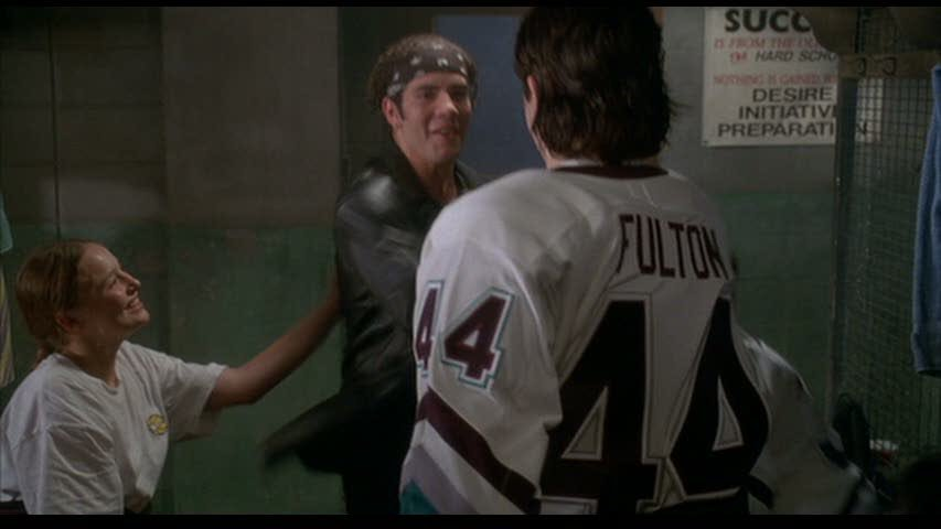 "... jersey inexplicably has ""FULTON"" on the back and it drives me crazy. In  both the first film and D2 he appropriately wears one with ""REED"" stitched  on. a50b4caaadd"