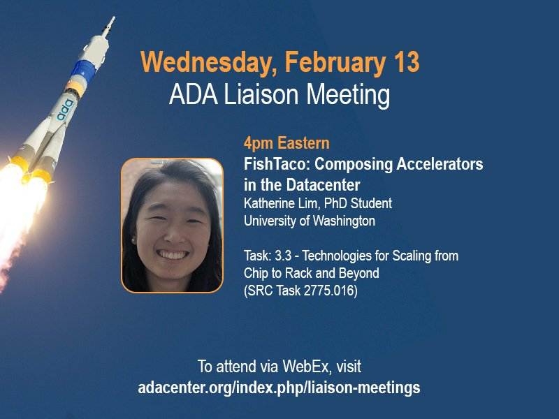 Don't miss this week's ADA Task Liaison meeting: sponsors and ADA researchers invited.