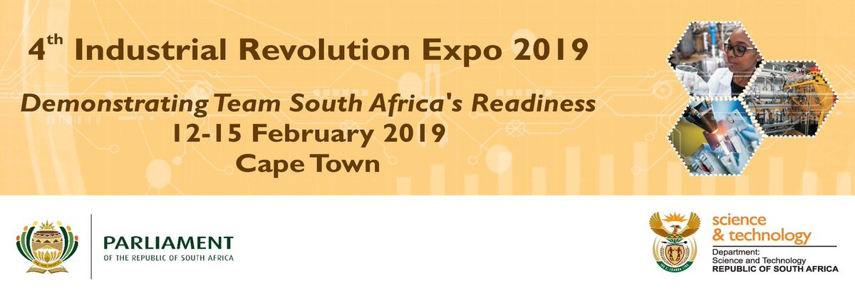 Tomorrow is the launch of the #MZANZI4IR expo at @ParliamentofRSA! Join @dst @CSIR @NRF_News @Mintek_RSA @SAAO as we showcase projects that demonstrates SA's #Industry40 readiness. Catch the launch on @MorningLiveSABC. Public and learners welcome for the entire week.