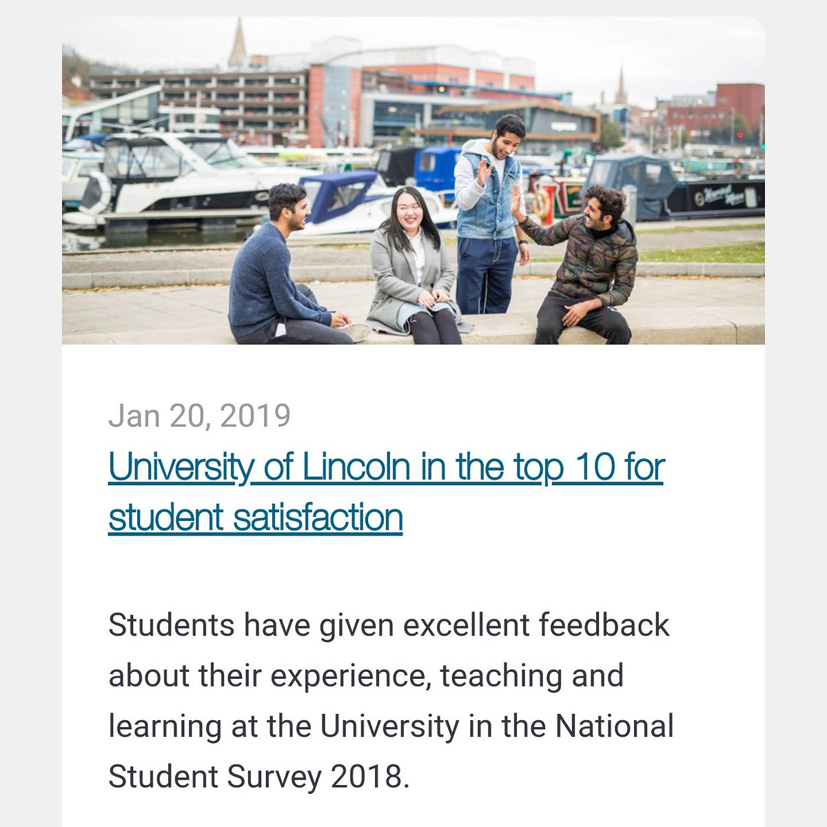 University of Lincoln is one of top 10 for student satisfaction. Contact us now to apply to the best universities  #UniversityOfLincoln #student #satisfaction #studyabroad #studyinUK #Studyvisa #studyinCanada #studyinUSA #ksa #saudi #arabia #iran #bahrain #qatar #morocco #kuwait