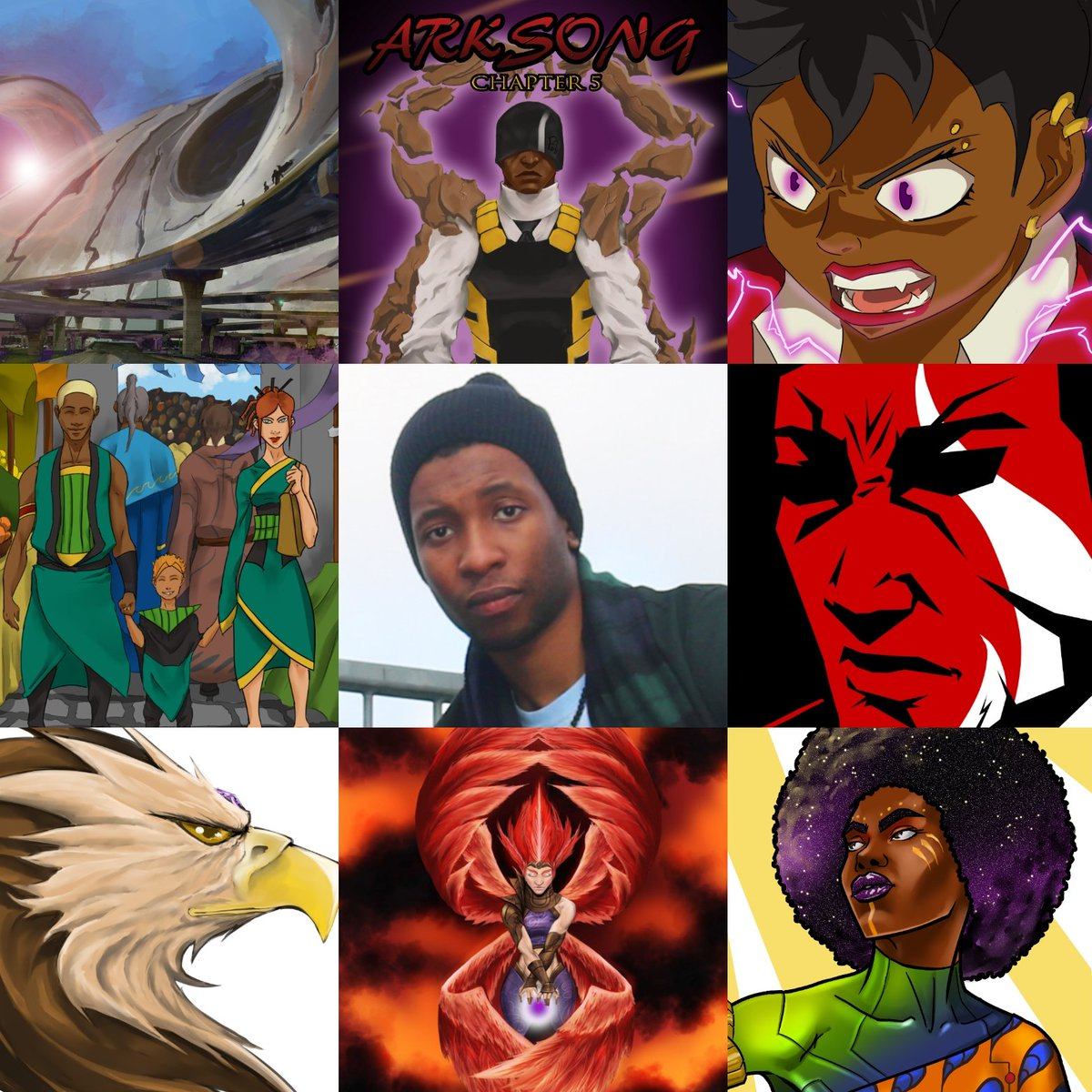 Thought I'd join in with the #artvsartist thing. I've only put in work from 2018 to keep it all up to date. But to be honest some of these are my favourites anyway!  #artvsartist2019 #digitalart #illustrator #blackartist #characterdesign #conceptart #comicart #indiecomics