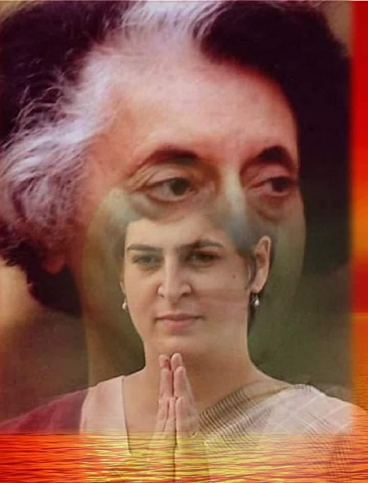 इंदिरा गाँधी जी ने अपनी हत्या से एक दिन पहले कहा था.. मेरे खून का एक एक कतरा, देश को मजबूत बनाने के काम आयेगा!! आज प्रियंका गांधी का रोड शो इंदिरा जी के वाक्य को सत्य किया सत्ता परिवर्तन है संकल्प काँग्रेस ही देशहित में विकल्प! 'जय जय कांग्रेस' #PriyankaGandhi #NayiUmeedNayaDesh