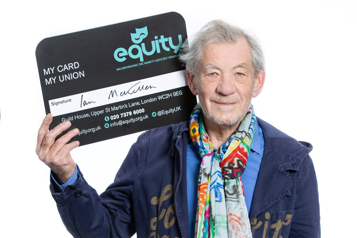 My trade union Equity is 90 this year and I'm proud to be part of its fight for better, fairer and more equal pay and conditions, safe workplaces and for investment in the arts. #MyCardMyUnion #ProudtobeEquity