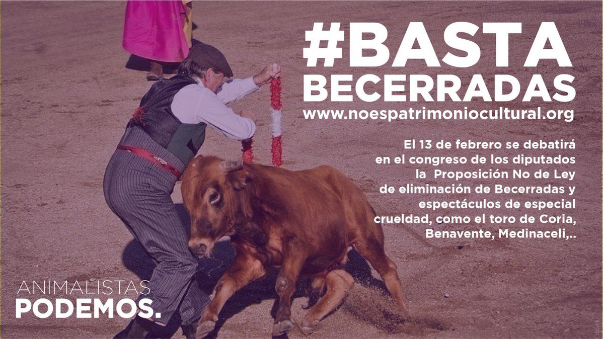 PAnimalistaCM's photo on #BastaBecerradas