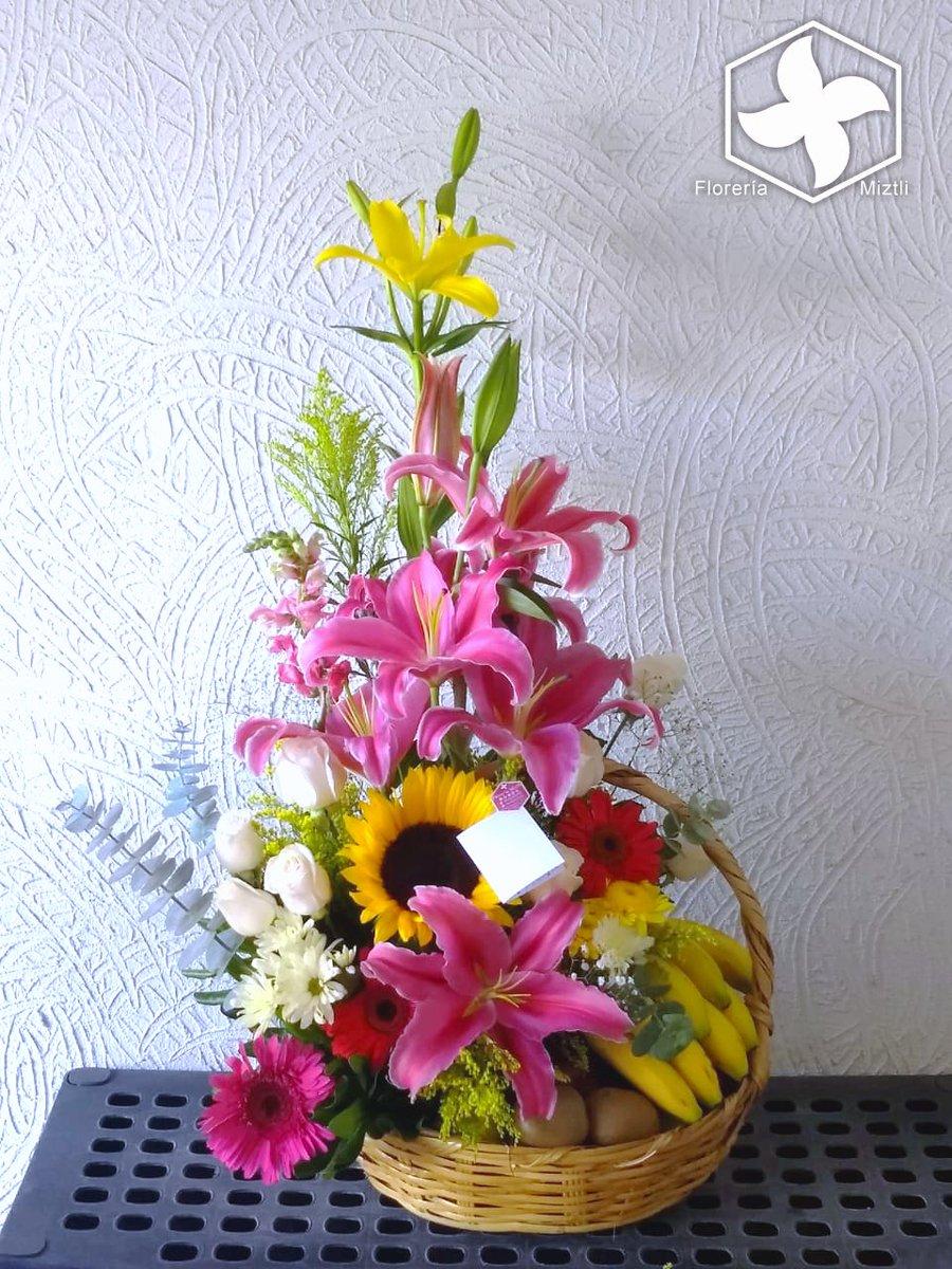 Floreria Miztli On Twitter Canasta Primaveral De Flores Y