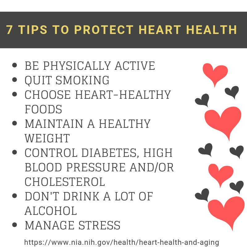 A5: Check out these 7 tips to protect your heart health: https://t.co/lT8yYnnKm8 #HHSHeartChat