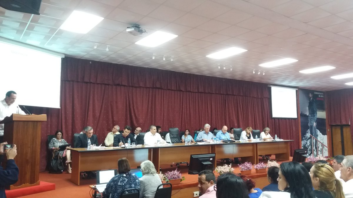Diaz-Canel attends annual balance of Ministry of Public Health.