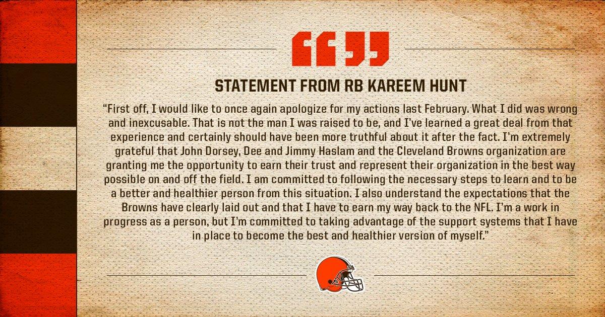 Cleveland Browns's photo on Kareem Hunt