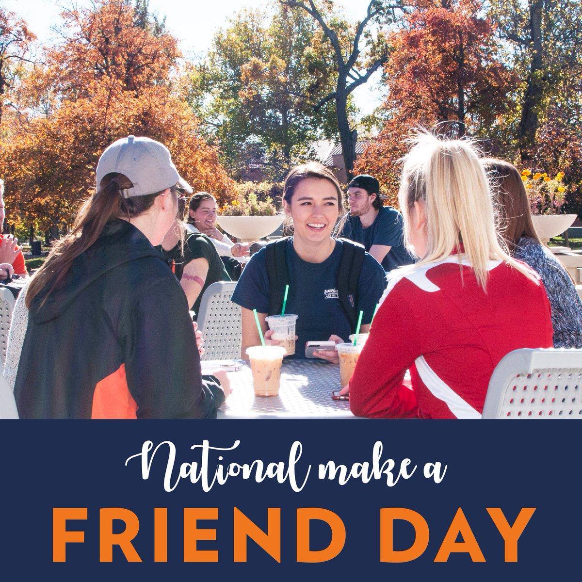 Baker University's photo on #NationalMakeAFriendDay