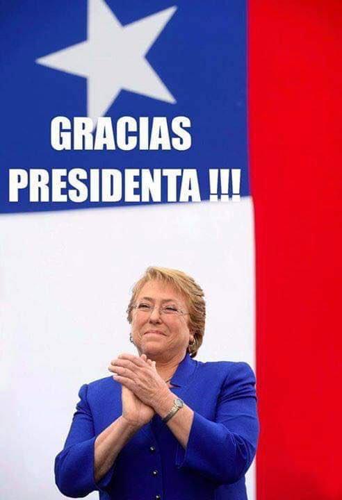 Cristián's photo on #QueVuelvaBachelet