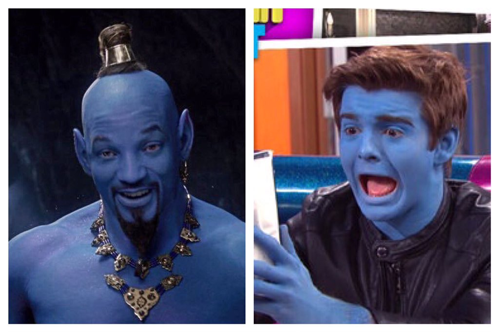 Who wore it better? I vote @JackGriffo   #Aladdintrailer #WillSmithGenie #Thundermans<br>http://pic.twitter.com/1QXN5Lflji