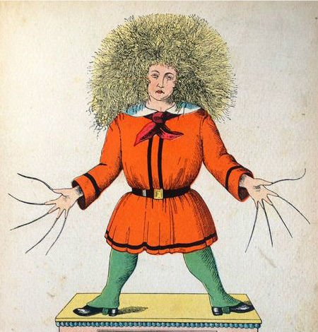 How many generations of children have been traumatised by Heinrich Hoffman's 1845 cautionary tale 'Der Struwwelpeter'?   #BookIllustrationOfTheDay #BookIllustrationOfTheDayBirthday<br>http://pic.twitter.com/WzXRjZbbVG