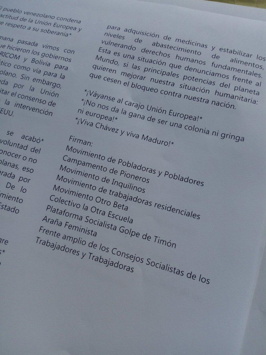 Maduro: Si algo me pasa, ¡retomen el poder y hagan una revolución más radical! - Página 7 DzJgIKIX0AUuLu9