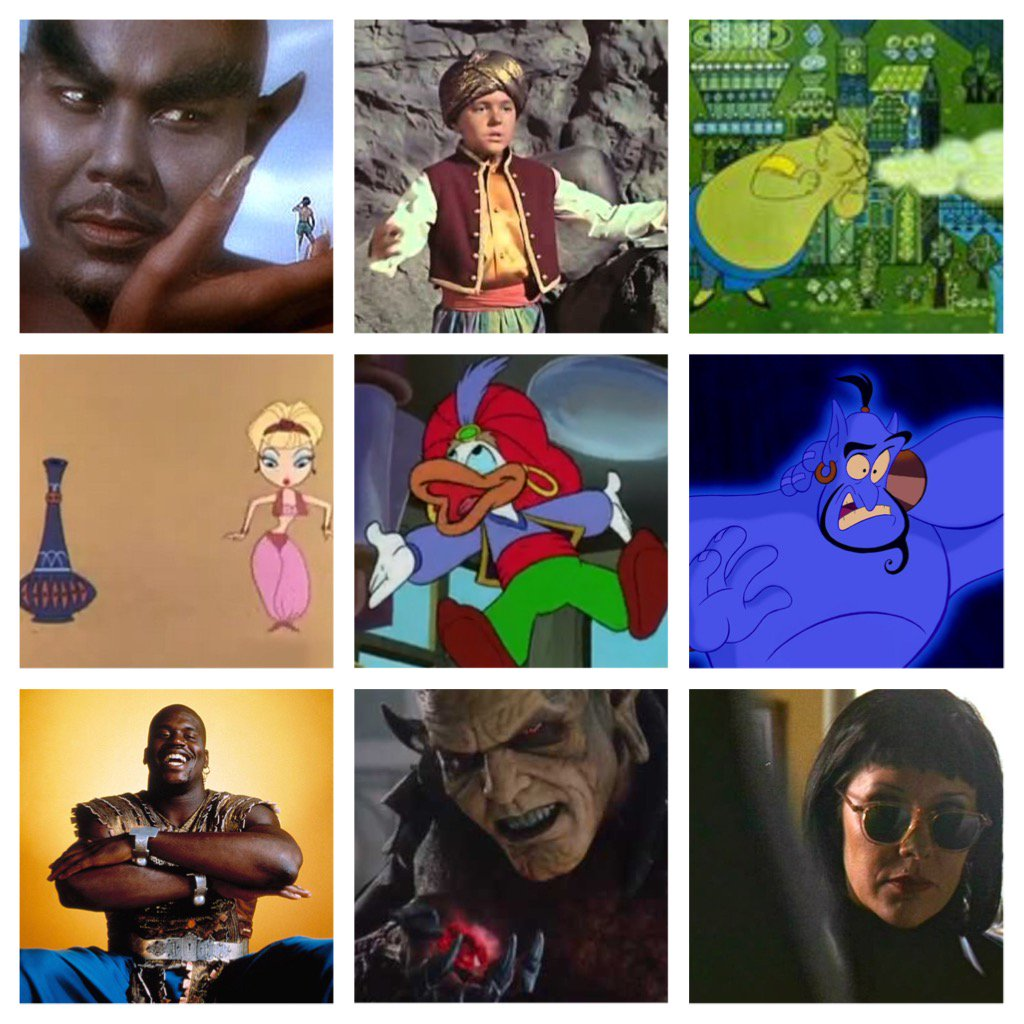 The mythical Djinn (or Genie) seems to be #TrendingNow since the #Aladdin #Trailer of #WillSmithGenie came out.  So, #FilmTwitter, who is your favorite #Genie from film/TV?  Is it Rex Ingram? #RobinWilliams? That ep of X-Files?  Surprise me!  These are my #FilmToilet favorites...<br>http://pic.twitter.com/16KNLQdAxK