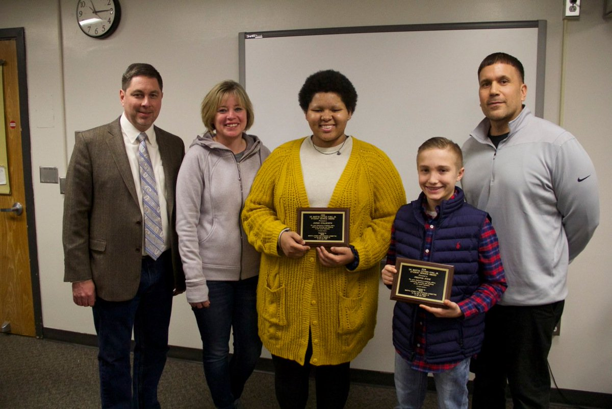 Newark students earn MLK Jr. Student Service awards