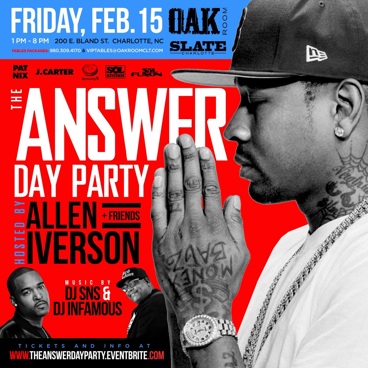 This Friday meet me at Oak Room in Charlotte!!! Be there or hear about it!!!