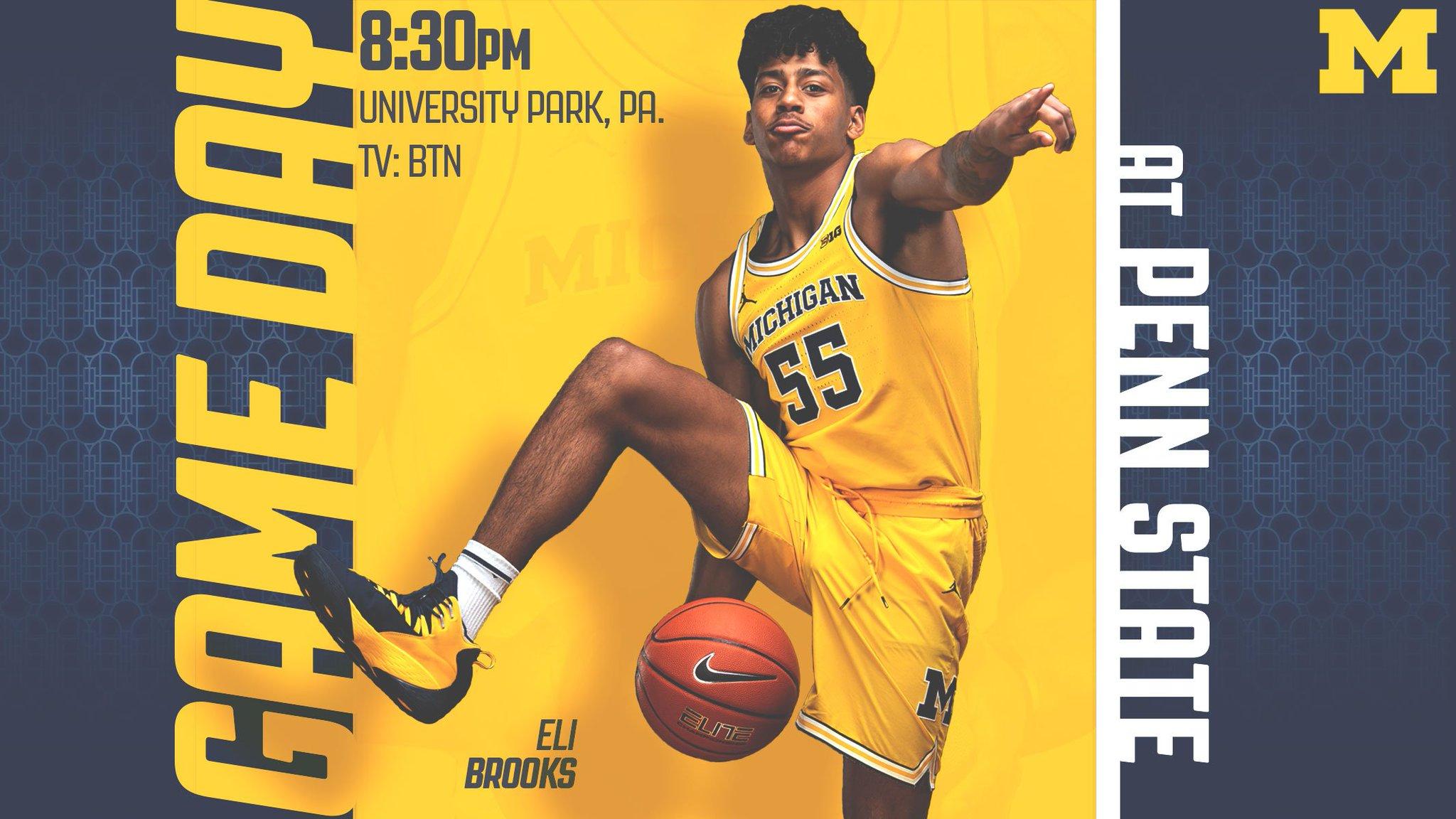 Michigan Wolverines NCAA Basketball: IT'S GAMEDAY!   🆚: at Penn State 📍: University Park, Pa. 🏟: Bryce Jordan Cente...