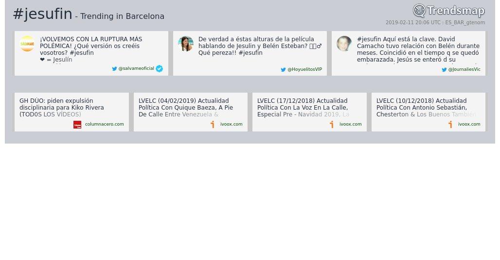 Trendsmap Barcelona's photo on #jesufin