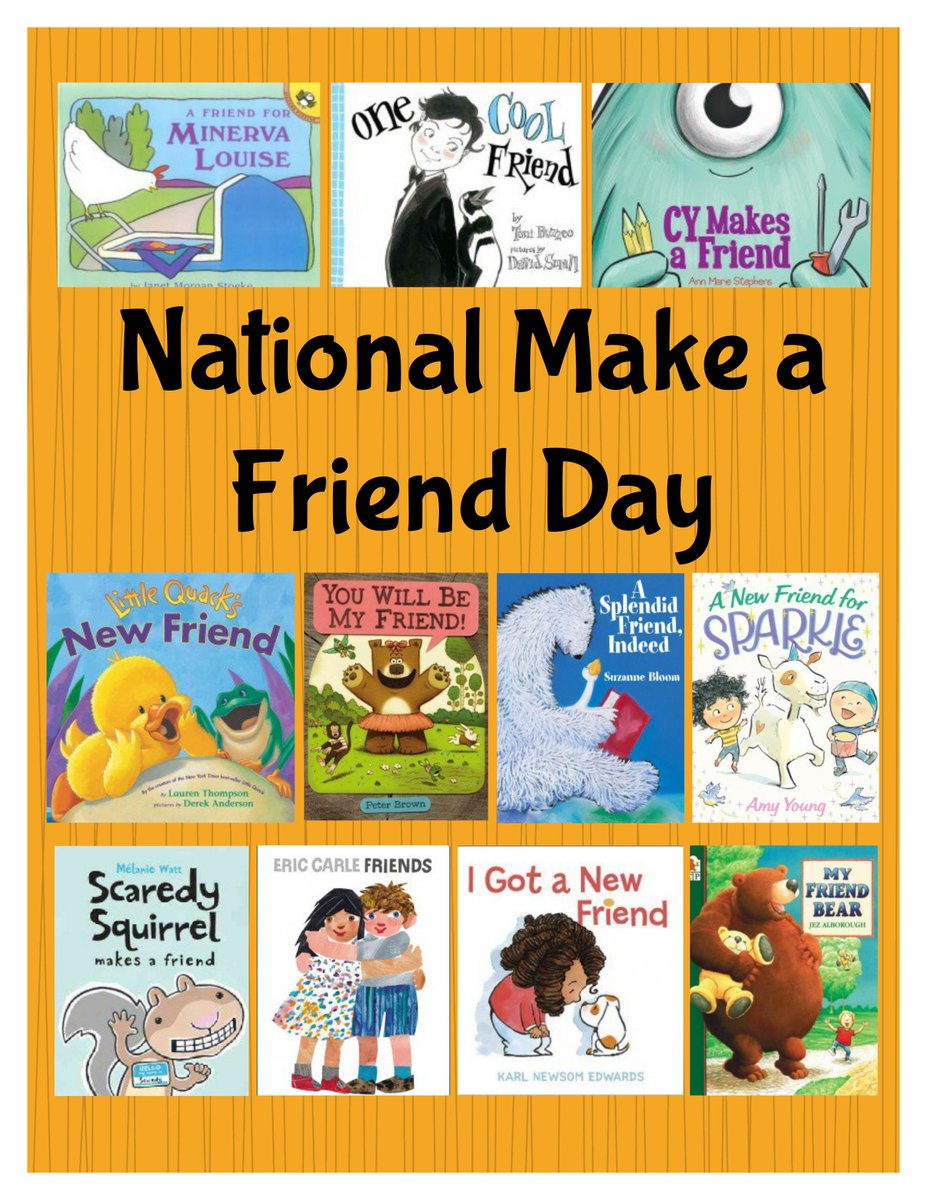 The Colony Public Library's photo on #NationalMakeAFriendDay