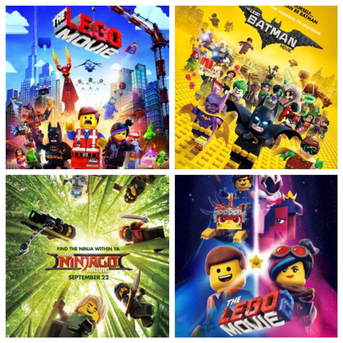 Hector Navarro On Twitter The Lego Movie Franchise 1 The Lego Movie 2 The Lego Batman Movie 3 The Lego Movie 2 The Second Part 4 The Lego Ninjago Movie Https T Co Ryxvrp4eqo