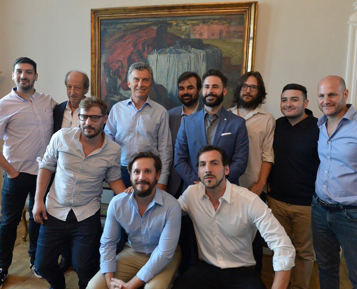 Hoy recibimos a representantes que desarrollan videojuegos en todo el país en Casa Rosada