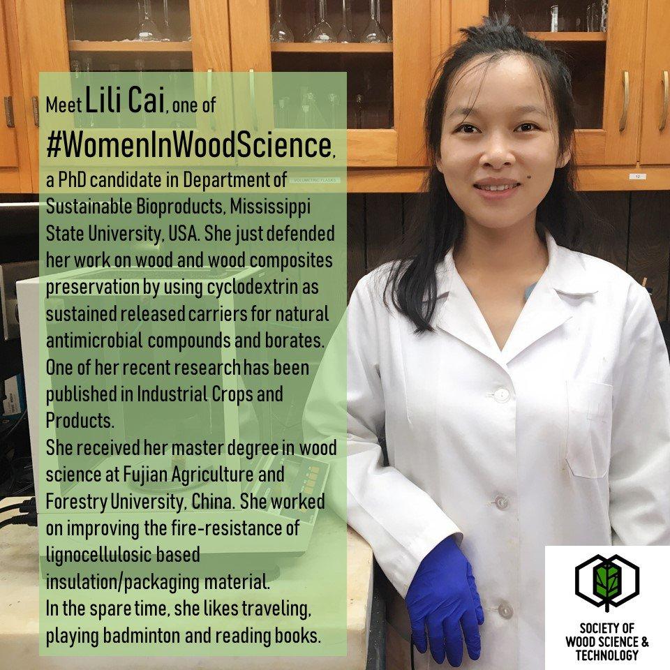 International Society of Wood Science & Technology's photo on #WomenInScienceDay