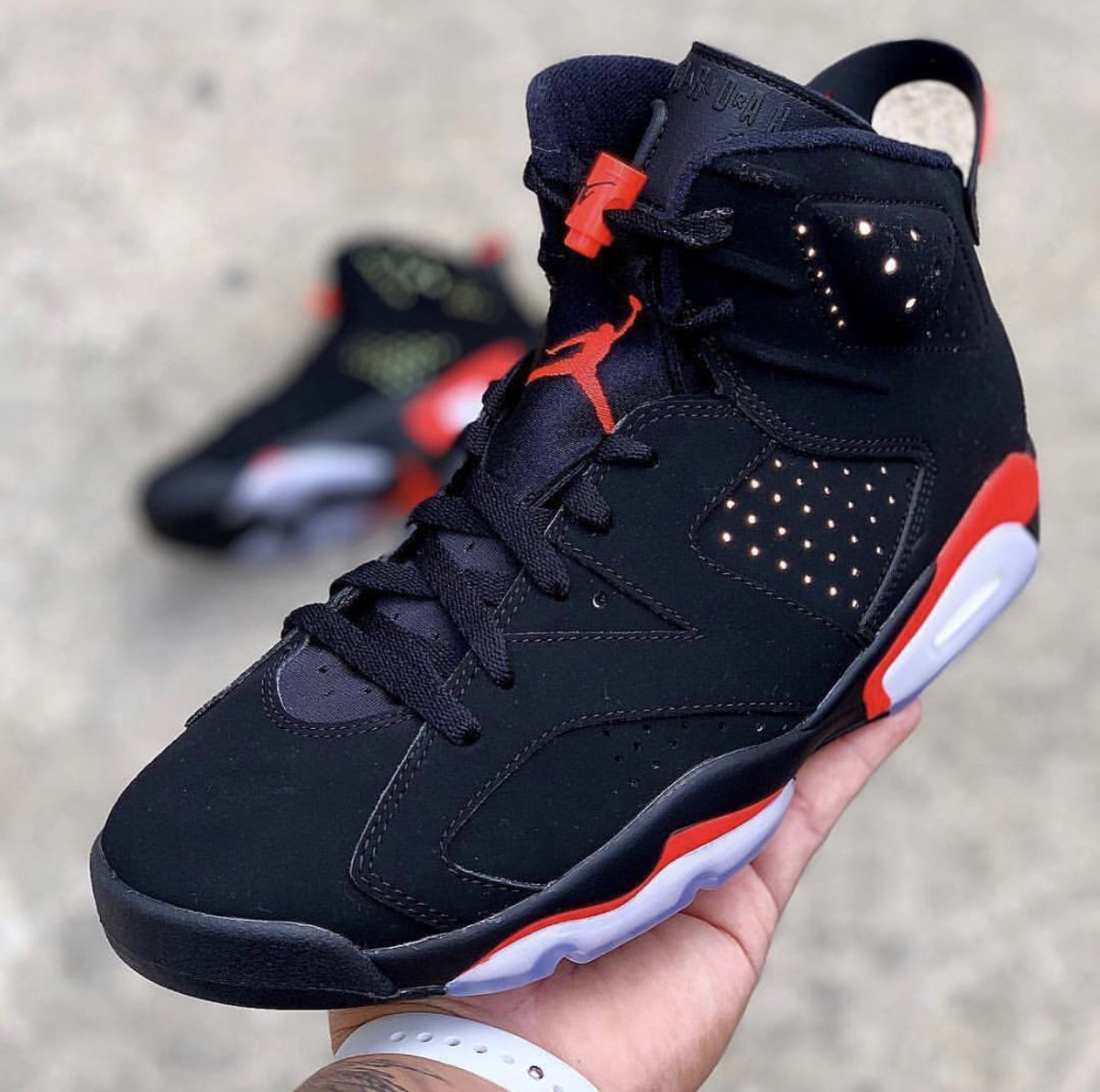 """7eb5a49abc777f Air Jordan 6 """"Black Infrared"""" Color  Black Infrared Style Code  384664-060  Release Date  February 16th"""