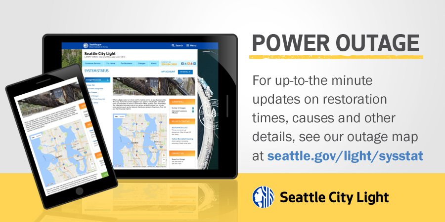 Seattle City Light On Twitter Currently There Are Several Power