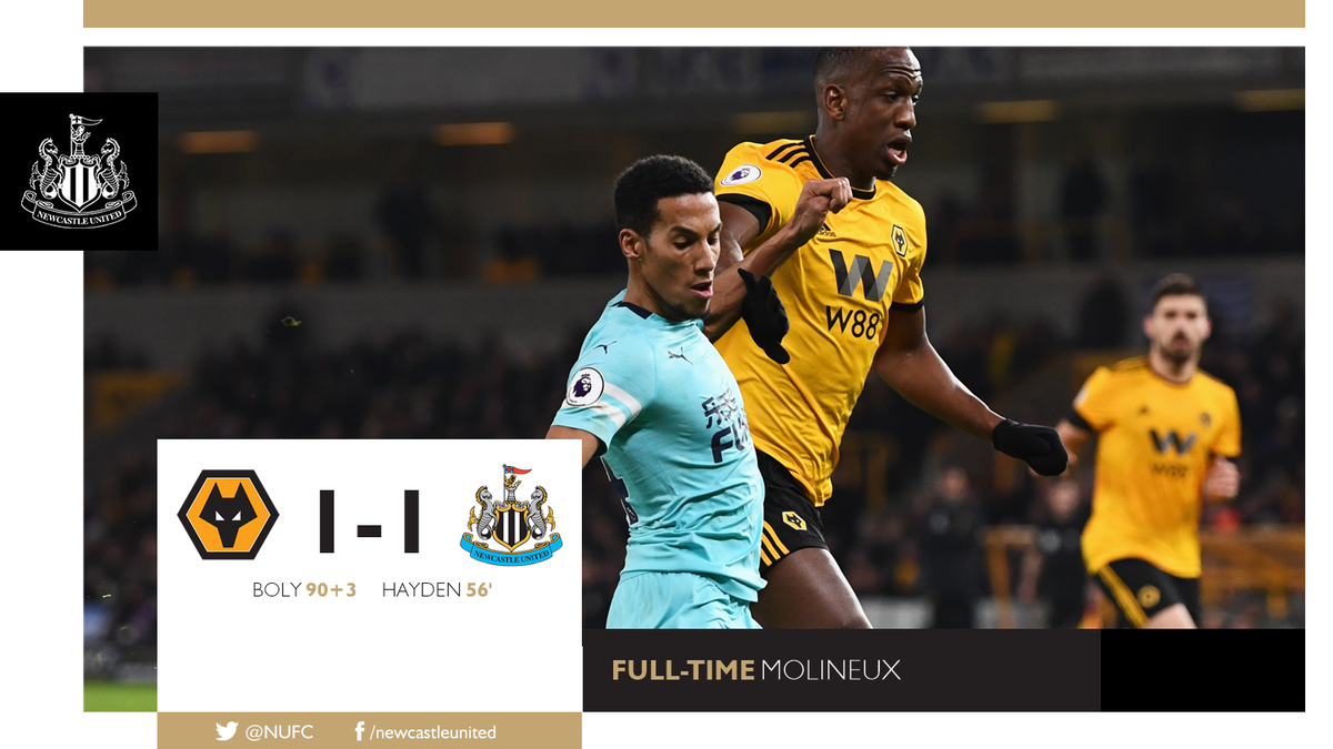 Newcastle United FC's photo on wolverhampton