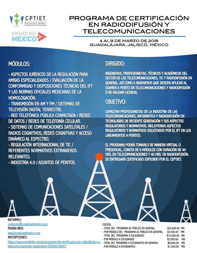 Broadcast Mexico On Twitter Programa De Certificación En