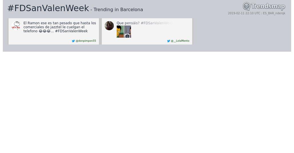 Trendsmap Barcelona's photo on #fdsanvalenweek