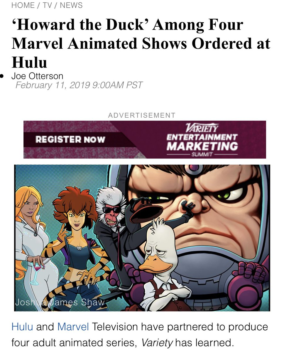 howard the duck, tigra, hit monkey and M.O.D.O.K. are getting TV shows?! marvel dynasty looking shaky