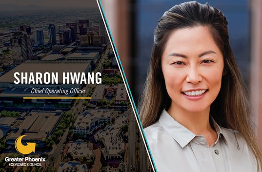 """GPEC is excited to announce the hiring of Sharon M. Hwang as Chief Operating Officer! """"#GreaterPHX has endless opportunities. I was drawn to GPEC by the hustle, ambition and pride the staff has in both its work and the region,"""" Hwang said. Learn more: http://bit.ly/2BxWyq6"""