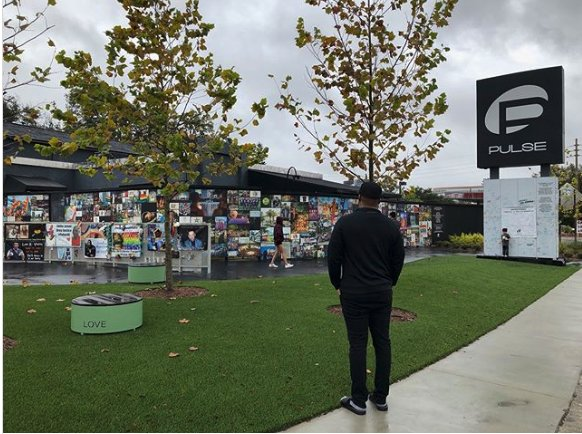 Tyler Perry Visits Pulse Memorial During Orlando Tour Stop