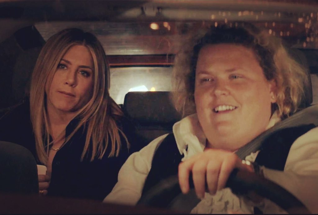 Happy birthday to the best person I've ever had the pleasure of annoying in an Uber! 🎉🎉🎉 #JenniferAniston