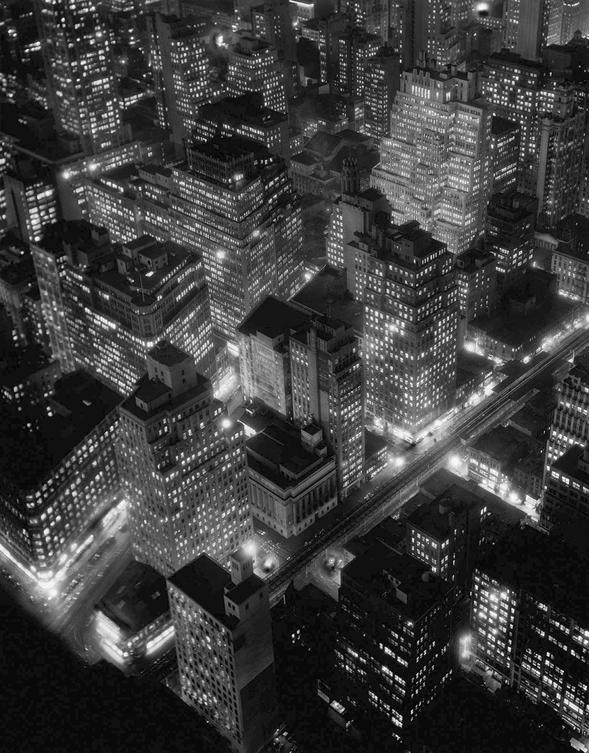Berenice Abbott, West Side Looking North from Upper 30s, New York, 1932.  An innovative documentary photographer, Berenice Abbott pioneered scientific images and photographed the fast-changing landscape of her times. Read more at: http://bit.ly/1A4yHq7