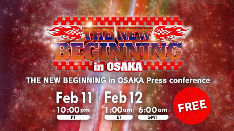 【 Watch FREE 】THE NEW BEGINNING in OSAKA Press Conference!! Watch FREE▶︎ http:// njpwworld.com  &nbsp;   #njpwworld #njpw #njnbg<br>http://pic.twitter.com/K7PlRLndjS