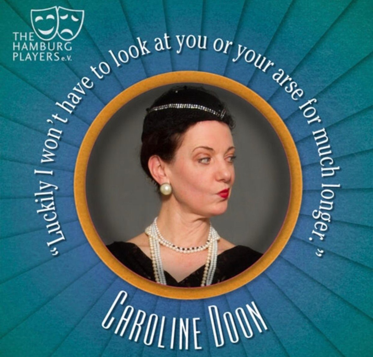 Miss Doon craves for the new general manager position in Deauville. But the sharing on the personal and sensitive affairs of others can lead to harms way, no?  Death in High Heels: 13-23 February at Theater an der Marschnerstraße http://www.hamburgplayers.de/tickets   #theaterinhamburg pic.twitter.com/0uqlgJMyx0