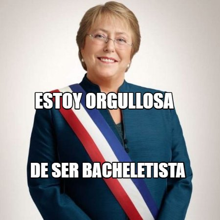 Polet �����'s photo on #QueVuelvaBachelet