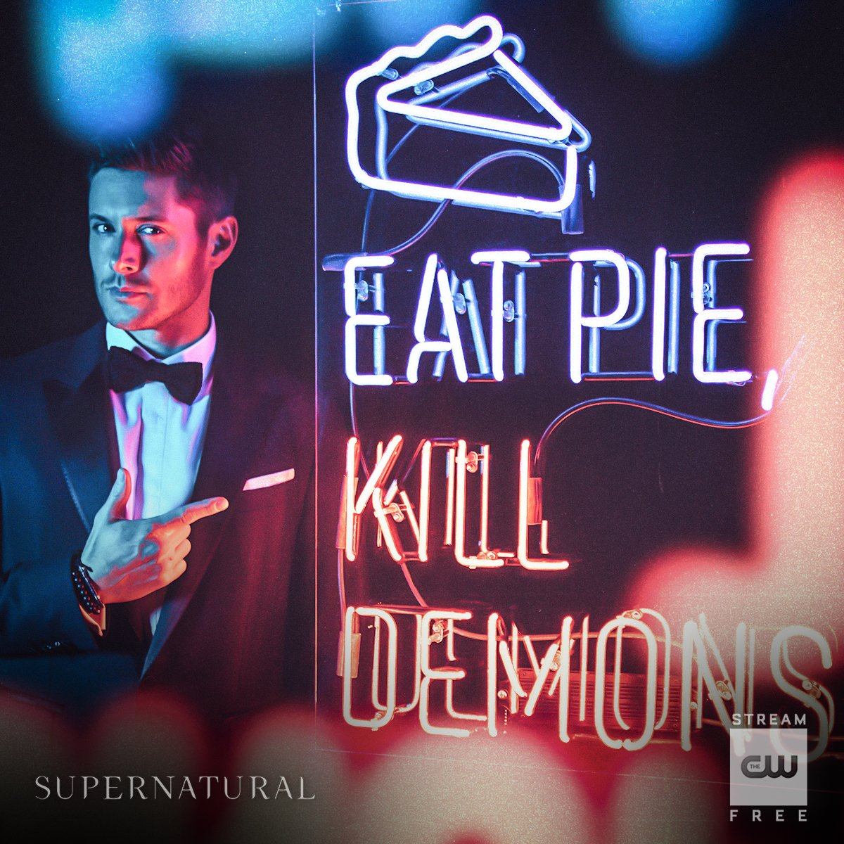 Eat pie. Kill demons. Stream the 300th episode: https://t.co/ZCIZSAIXTe #Supernatural #SPN300